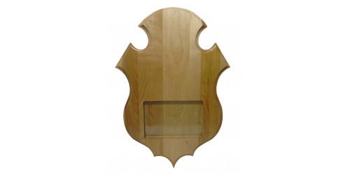 Plaque de panache vernis avec photo pour chevreuil