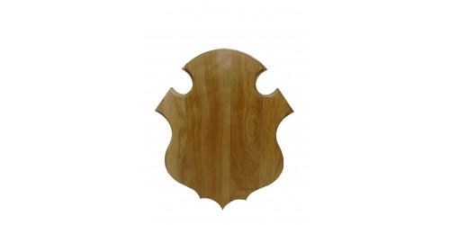 Plaque de panache vernis pour chevreuil