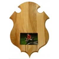 Plaque de panache vernis avec photo pour orignal