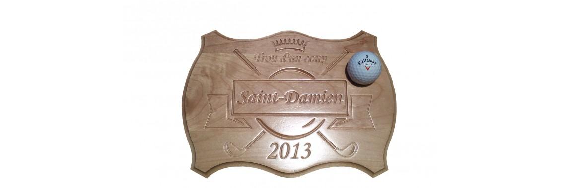 Plaque trophée de golf